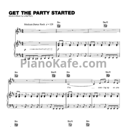 Ноты Pink - Get the party started - PianoKafe.com