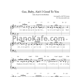 Ноты Ella & Louis Again - Gee baby ain't I good to you - PianoKafe.com