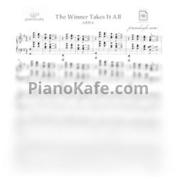 Ноты ABBA - The winner takes it all (Версия 2) - PianoKafe.com