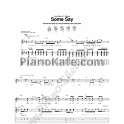 Ноты Sum 41 - Some say - PianoKafe.com