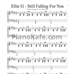 Ноты Ellie Goulding - Still falling for fou song - PianoKafe.com