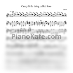 Ноты Queen - Crazy little thing called love - PianoKafe.com