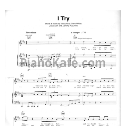 Ноты Macy Gray - I try - PianoKafe.com