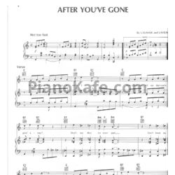 Ноты Henry Creamer and Turner Layton - After you've gone - PianoKafe.com
