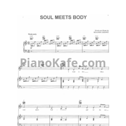 Ноты Death Cab For Cutie - Soul meets body - PianoKafe.com