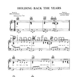 Ноты Simply Red - Holding back the years - PianoKafe.com