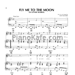 Ноты Bart Howard - Fly me to the moon - PianoKafe.com