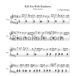 Ноты Selena Gomez - Kill em with kindness - PianoKafe.com