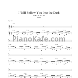 Ноты Death Cab For Cutie - I will follow you into the dark - PianoKafe.com