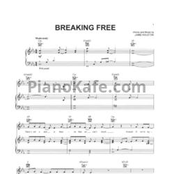 Ноты Jamie Houston - Breaking free - PianoKafe.com