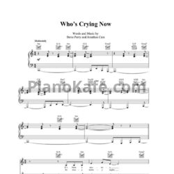 Ноты Journey - Who's crying now - PianoKafe.com