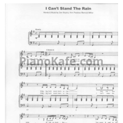 Ноты Юлия Литош - I can't stand the rain - PianoKafe.com