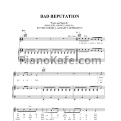 Ноты Joan Jett - Bad reputation - PianoKafe.com