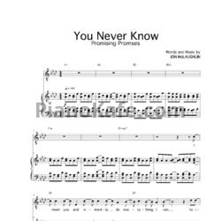 Ноты Jon McLaughlin - You never know - PianoKafe.com