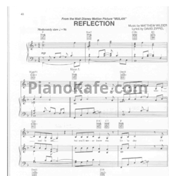 Ноты Matthew Wilder - Reflection - PianoKafe.com