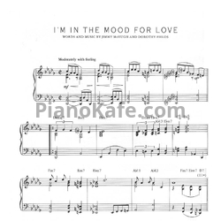 Ноты Jimmy McHugh and Dorothy Fields - I'm in the mood for love - PianoKafe.com