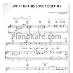 Ноты Al Jarreau - We're in this love together - PianoKafe.com