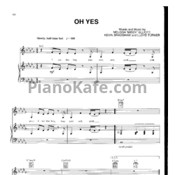 Ноты Whitney Houston - Oh yes - PianoKafe.com
