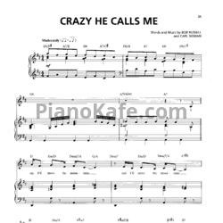 Ноты Billie Holiday - Crazy he calls me - PianoKafe.com