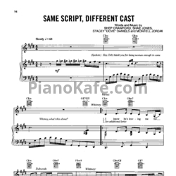 Ноты Whitney Houston Feat. Deborah Cox - Same script, different cast - PianoKafe.com