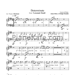 Ноты Bridgit Mendler & Adam Hicks - Determinate - PianoKafe.com