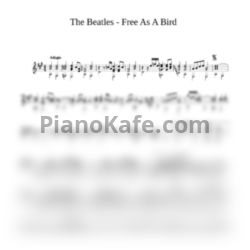 Ноты The Beatles - Free as a bird (гитара) - PianoKafe.com