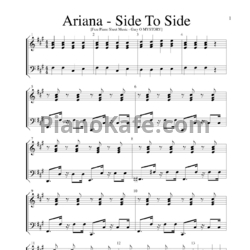 Ноты Ariana Grande ft. Nicki Minaj - Side to side - PianoKafe.com