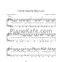 Ноты Miley Cyrus - Can't Be Tamed - PianoKafe.com