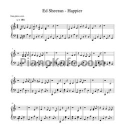 Ноты Ed Sheeran - Happier - PianoKafe.com