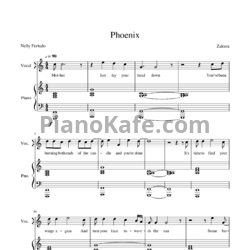 Ноты Nelly Furtado - Phoenix - PianoKafe.com