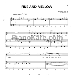 Ноты Billie Holiday - Fine and mellow - PianoKafe.com