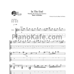Ноты Black Veil Brides - In the end - PianoKafe.com