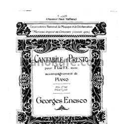Ноты Georges Enesco - Cantabile and presto - PianoKafe.com