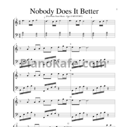 Ноты Ariana Grande - Nobody does it better - PianoKafe.com