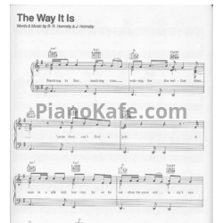 Ноты Bruce Hornsby - The way it is - PianoKafe.com