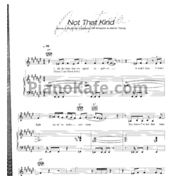 Ноты Anastacia - Not that kind - PianoKafe.com