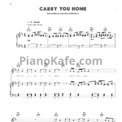 Ноты James Blunt - Carry you home - PianoKafe.com