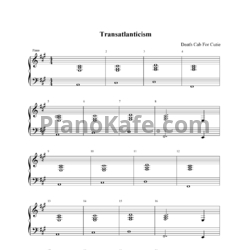 Ноты Death Cab For Cutie - Transatlanticism - PianoKafe.com