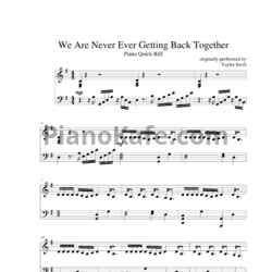 Ноты Taylor Swift - We are never ever getting back together (Версия 2) - PianoKafe.com