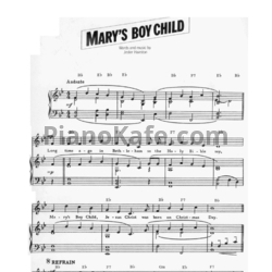 Ноты Boney M - Mary's Boy Child - PianoKafe.com
