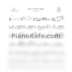 Ноты Survivor - Eye of the tiger - PianoKafe.com