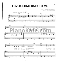 Ноты Billie Holiday - Lover, come back to me - PianoKafe.com