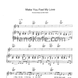 Ноты Bob Dylan - Make you feel my love - PianoKafe.com