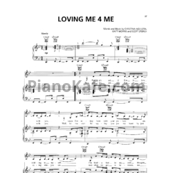 Ноты Christina Aguilera - Loving Me for Me - PianoKafe.com