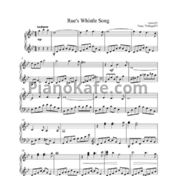 Ноты James Newton Howard - Rue's whistle song - PianoKafe.com