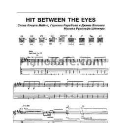 Ноты Scorpions - Hit between the eyes - PianoKafe.com