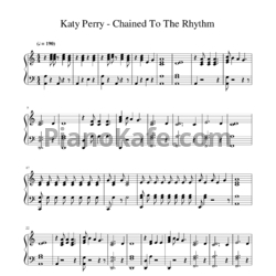 Ноты Katy Perry feat. Skip Marley - Chained to the rhythm - PianoKafe.com